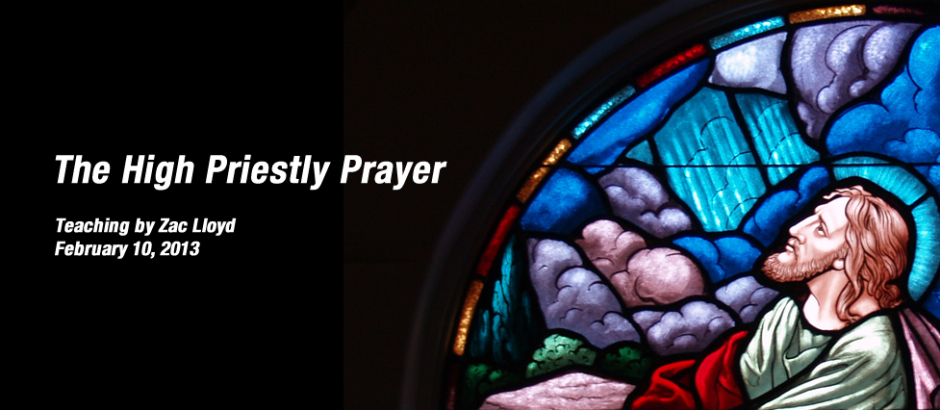 """high priestly prayer The high priestly prayer - jesus spoke these things and lifting up his eyes to heaven, he said, """"father, the hour has come glorify your son, that the son may glorify you, even as you gave him authority."""