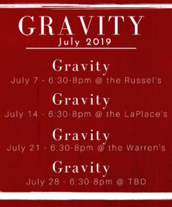 Updated July Schedule!