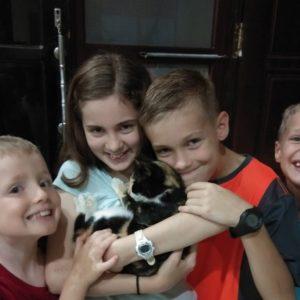 Lloyd kids and cat